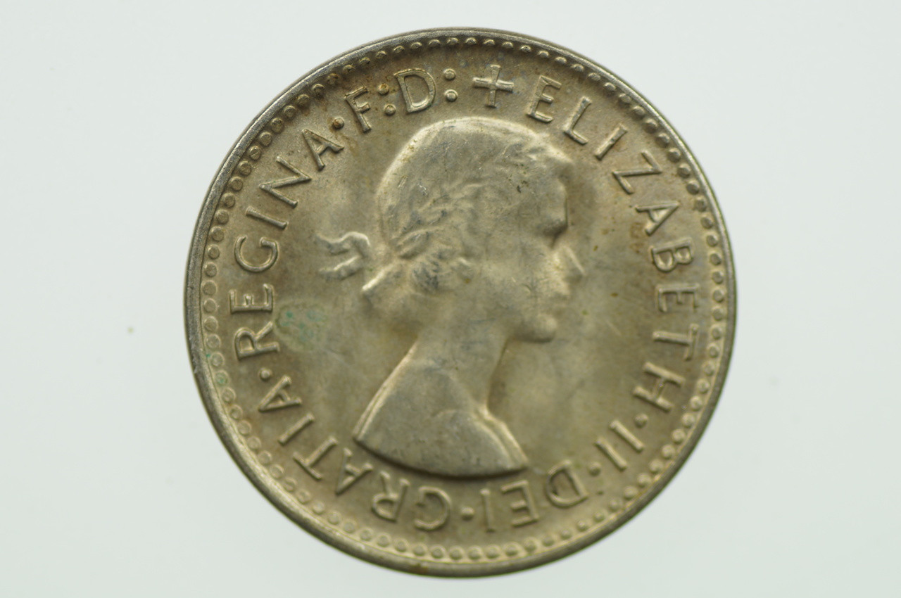 1961 Threepence in Uncirculated Condition Obverse