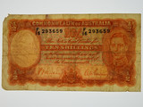 1939 Ten Shillings Sheehan/MacFarlane Banknote in Very Good Condition