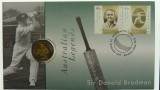 1997 Five Dollars Donald Bradman Philatelic Numismatic Cover