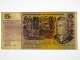 1969 Five Dollars Phillips / Randall Missing Ink / Rainbow Banknote