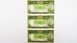 1961 One Pound Coombs / Wilson Consecutive Run of Three Banknotes