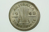 Australian 1948 Threepence Variety Error Mis-Strike in Very Fine Condition