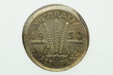 Australian 1953 Threepence Variety Error Mis-Strike Elizabeth II in Extremely Fine Condition