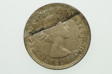 1962 Sixpence Over-Stamp Metal Peel Variety in Very Fine Condition