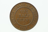 1927 Half Penny George V in Almost Uncirculated Condition