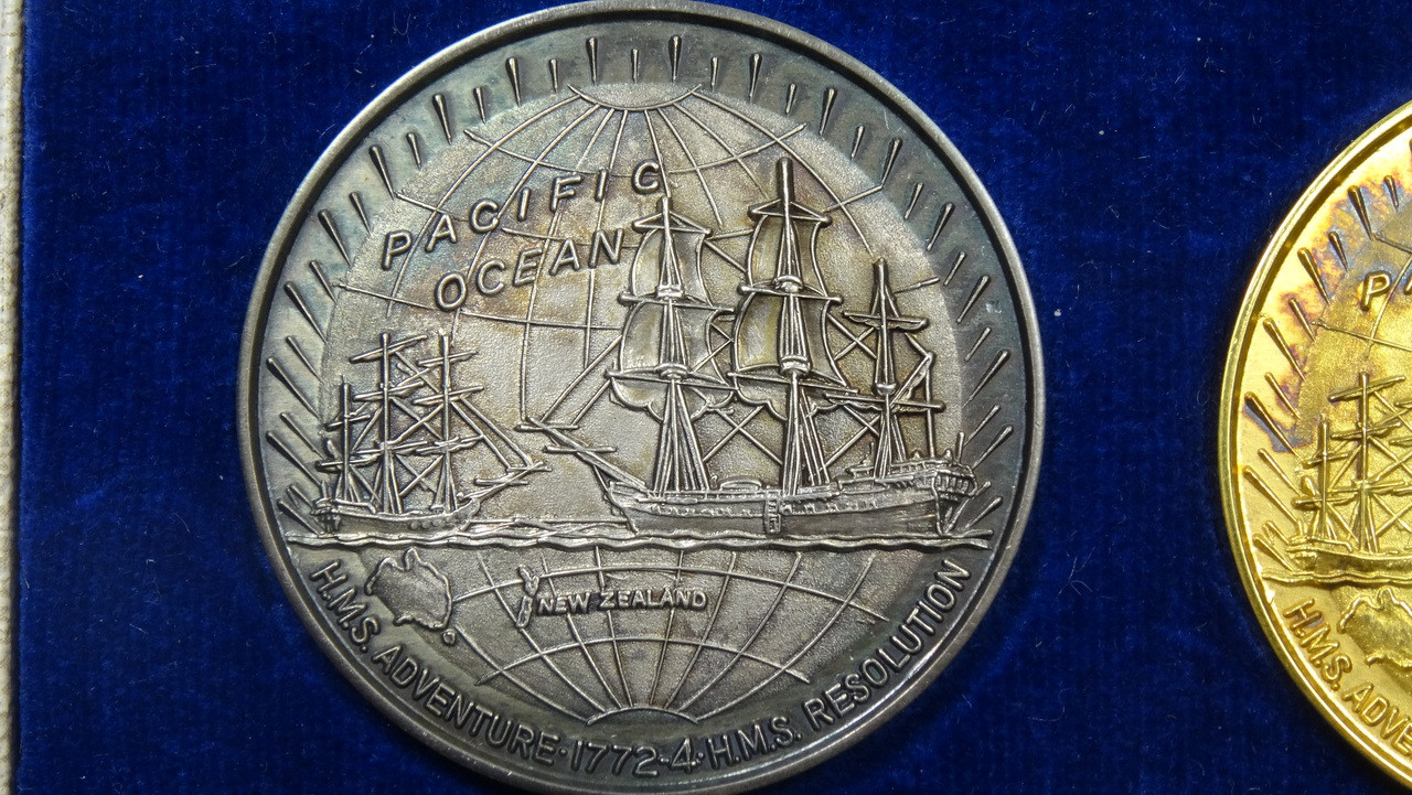 Captain James Cook's 2nd Voyage Silver Medal Reverse