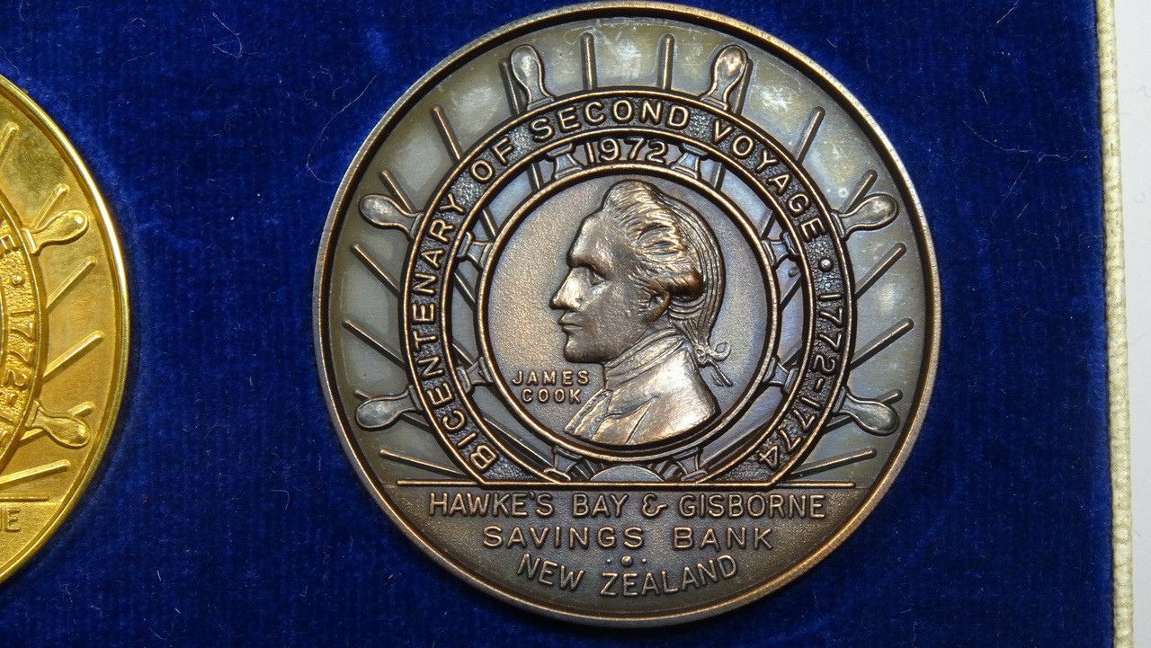 Captain James Cook's 2nd Voyage Bronze Medal Obverse