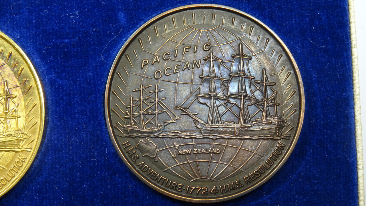 Captain James Cook's 2nd Voyage Bronze Medal Reverse