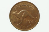 1943 Y. Penny George VI in Almost Uncirculated Condition Reverse