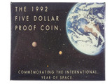 1992 Commemorating The  International Year of Space $5 Silver Proof Coin