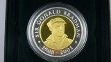 2001 Bi-Metal Gold and Silver Sir Donald Bradman $20 Proof Coin