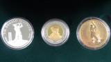 2001 Gold, Silver, Aluminium/Bronze Sir Donald Bradman 3 Coin Set