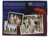 2005 Royal Australian Mint End of WWII 60th Anniversary Unc Coin Set