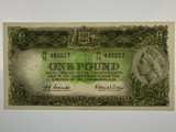 1961 One Pound Coombs/Wilson Banknote in Extremely Fine Condition