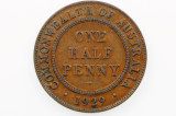 1929 Half Penny George V in Very Fine Condition