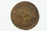 1952 Penny Error Mis-Strike George VI in Almost Extremely Fine Condition