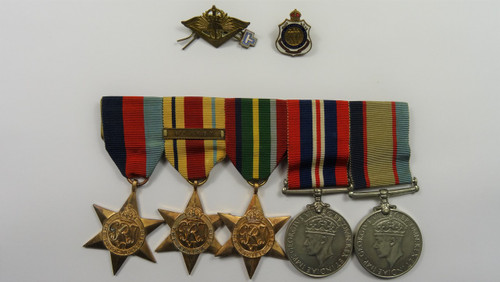 1939-45 Star, Africa Star, Pacific Star, War Medal & Australian Service Medal