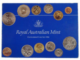 1984 Royal Australian Mint Uncirculated Insert Yellowed Coin Set