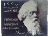 1996 Royal Australian Mint Sir Henry Parks Centenary Unc Coin Set