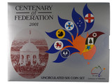 2001 Royal Australian Mint Centenary of Federation Unc Coin Set
