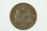 1918 Threepence George V in Very Fine Condition