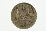 1921 Threepence George V in Fine Condition
