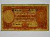1952 Ten Shillings Coombs / Wilson Banknote in Very Fine Condition