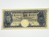 1949 Five Pounds Coombs / Watt Banknote in Very Fine Condition