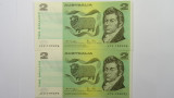 1979 Two Dollars Knight / Stone Consecutive Pair of Banknotes