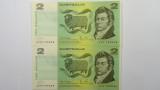 1979 Two Dollars Knight / Stone Consecutive Pair of Banknotes
