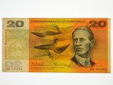 1966 Twenty Dollars Coombs / Wilson Last Prefix XBP Banknote