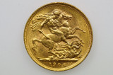 1906 Melbourne Mint Gold Full Sovereign in Almost EF Condition