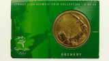 Sydney 2000 Olympic Games Archery Five Dollars Uncirculated Coin