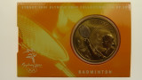 Sydney 2000 Olympic Games Badminton Five Dollars Uncirculated Coin