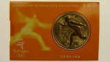Sydney 2000 Olympic Games Fencing Five Dollars Uncirculated Coin