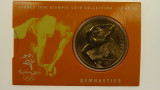 Sydney 2000 Olympic Games Gymnastics Five Dollars Uncirculated Coin