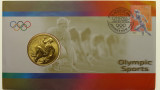 2000 Five Dollars Athletics Sydney Olympic Philatelic Numismatic Cover