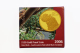 2006 Rare Birds Red Tailed Black Cockatoo $150 Gold Proof Coin