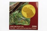 2006 Rare Birds Red Tailed Black Cockatoo $200 Gold Proof Coin