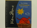 2009 Artist Series Ken Done Kangaroo 1/10oz Gold Proof Ten Dollars Coin
