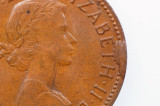 1961 Y. Half Penny Variety Error Rim Cud in Extremely Fine Condition