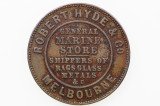1861 Hyde, Robert and Co Half Penny Token in Very Fine Condition