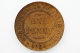 1920 Penny No Dots Variety Upset at 1 O'clock Error in Very Fine Condition