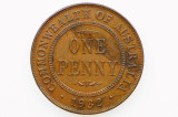 1932 Penny George V in Almost Extremely Fine Condition
