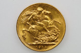 1914 Melbourne Mint Gold Full Sovereign in Almost EF Condition