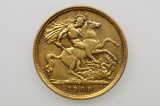 1908 Melbourne Mint Gold Half Sovereign in Very Fine Condition