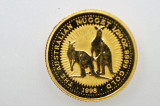 1998 1/20oz 9999 Gold Nugget Kangaroo $5 Uncirculated Coin