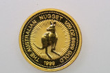 1999 1/20oz 9999 Gold Nugget Kangaroo $5 Uncirculated Coin