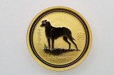 2006 1/20oz 9999 Gold Lunar Series Year of the Dog $5 Uncirculated Coin