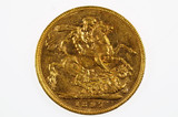 1897 Melbourne Mint Gold Full Sovereign in Very Fine Condition